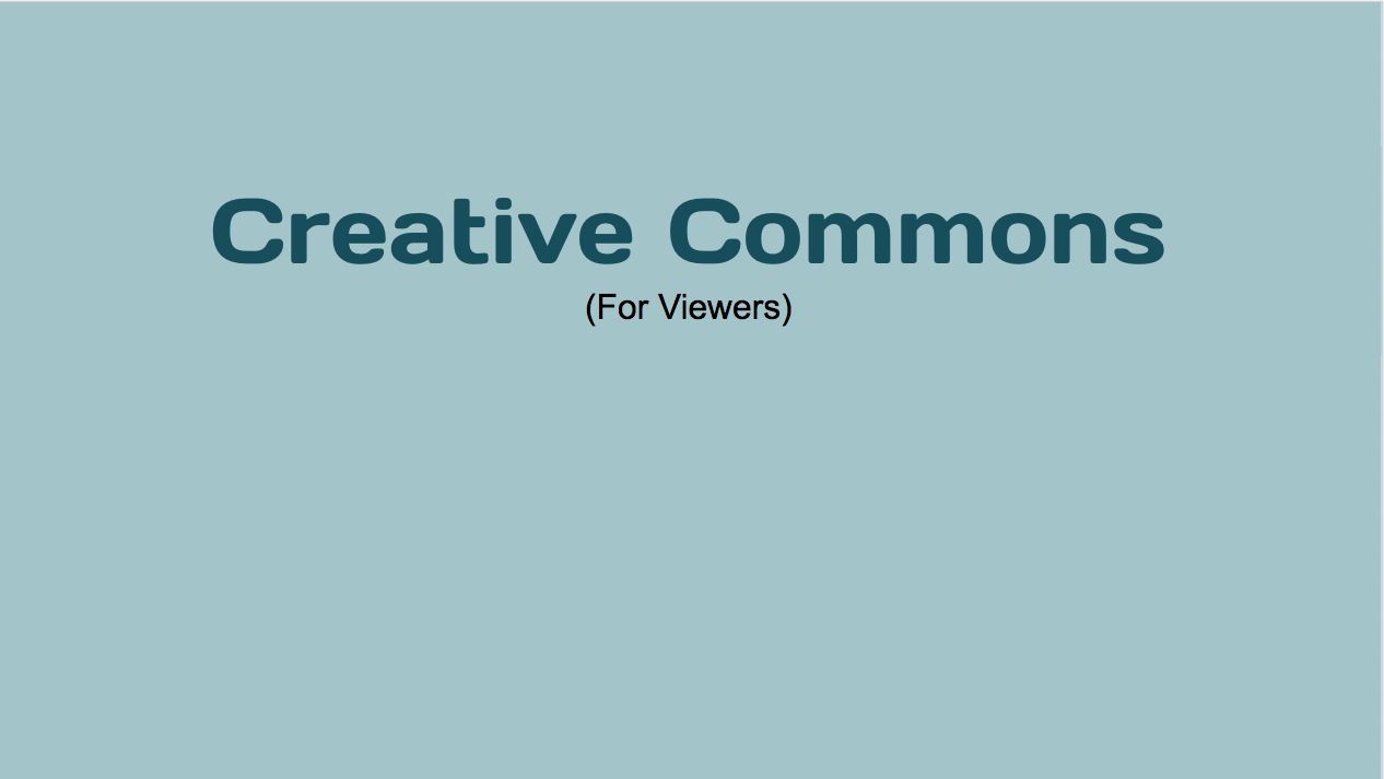 Creative Commons License 1