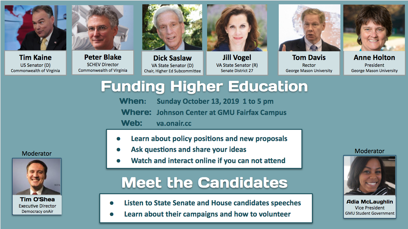 Higher Education Forum with NoVA Candidates