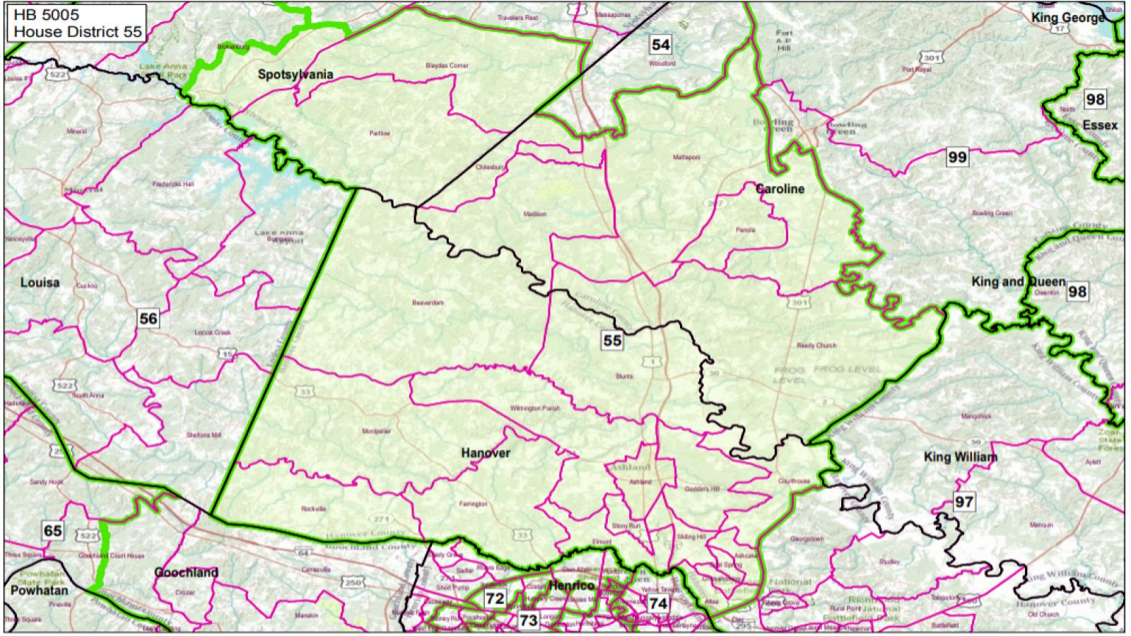 VA State House District #55 1