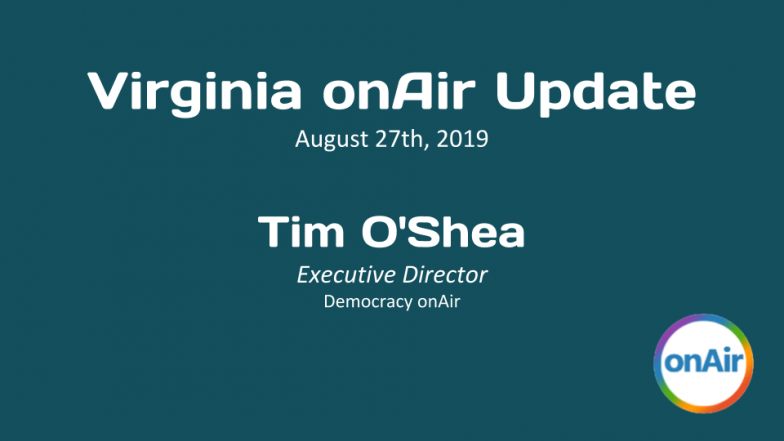 August 20, 2019 VA onAir Update