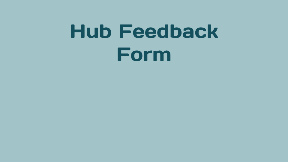 Feedback and Questions for Hub Directors