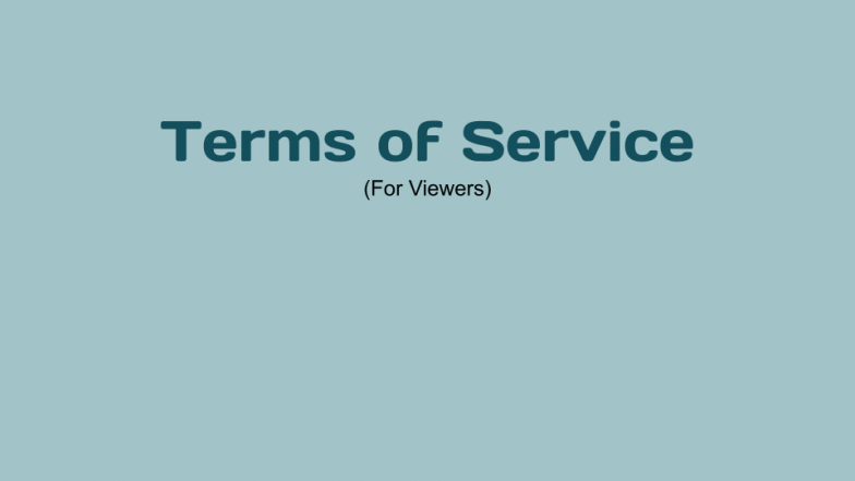 Terms of Service +