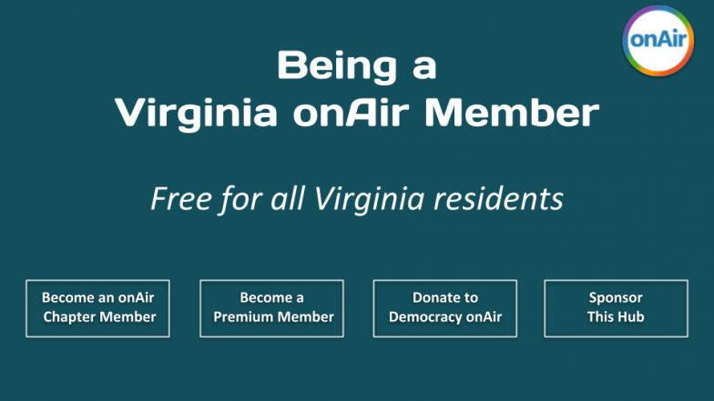 Being a Virginia onAir Member