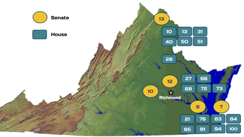Virginia's Competitive Districts in 2019