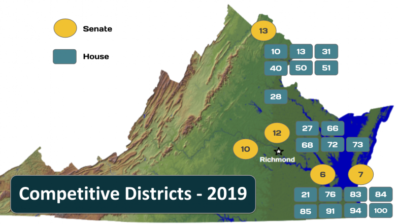 VA Competitive Districts - 2019 Elections