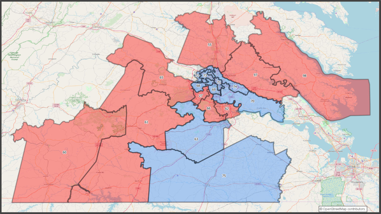 VA House - Southcentral VA Districts