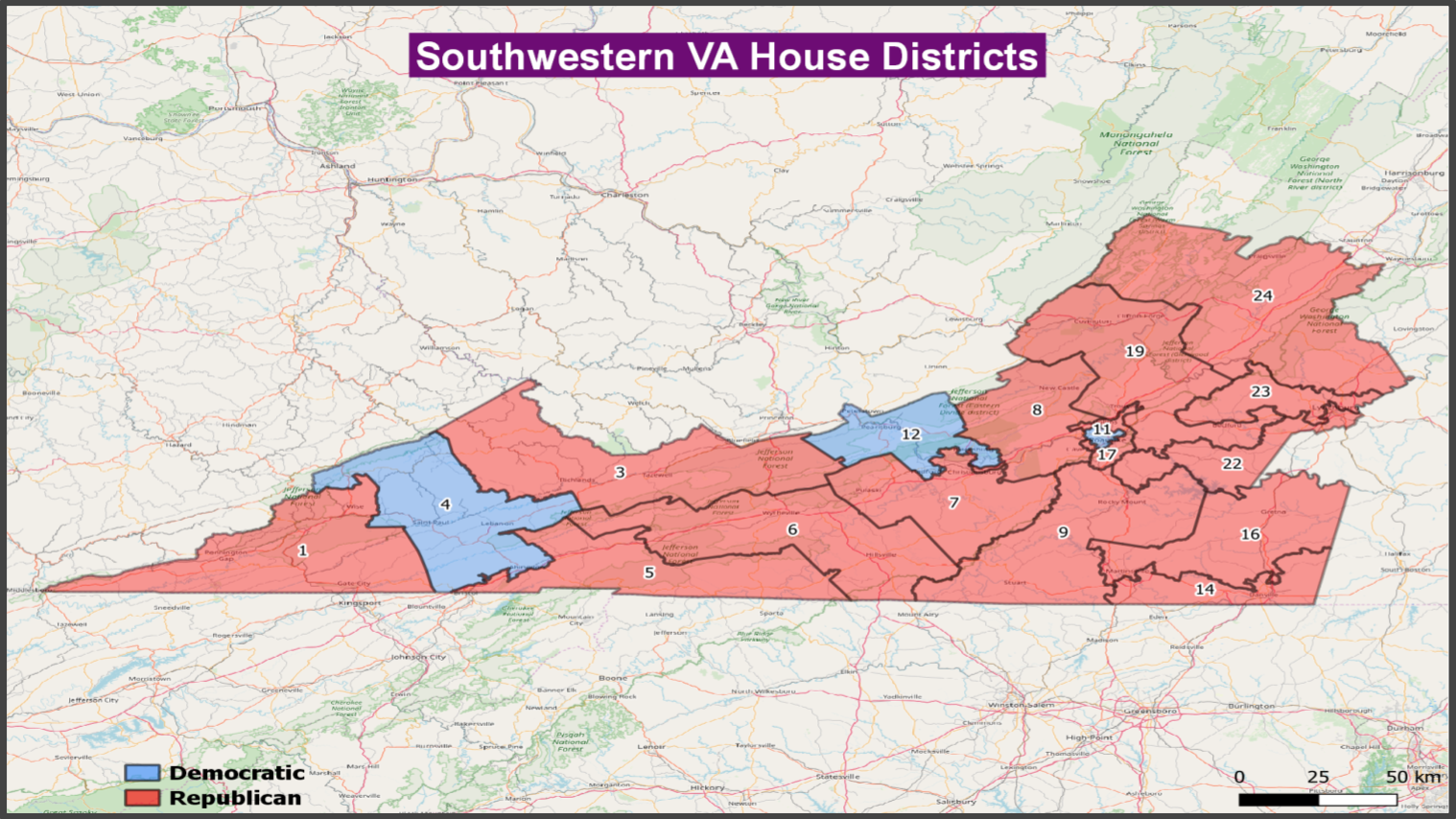 VA House - Southwestern VA Districts