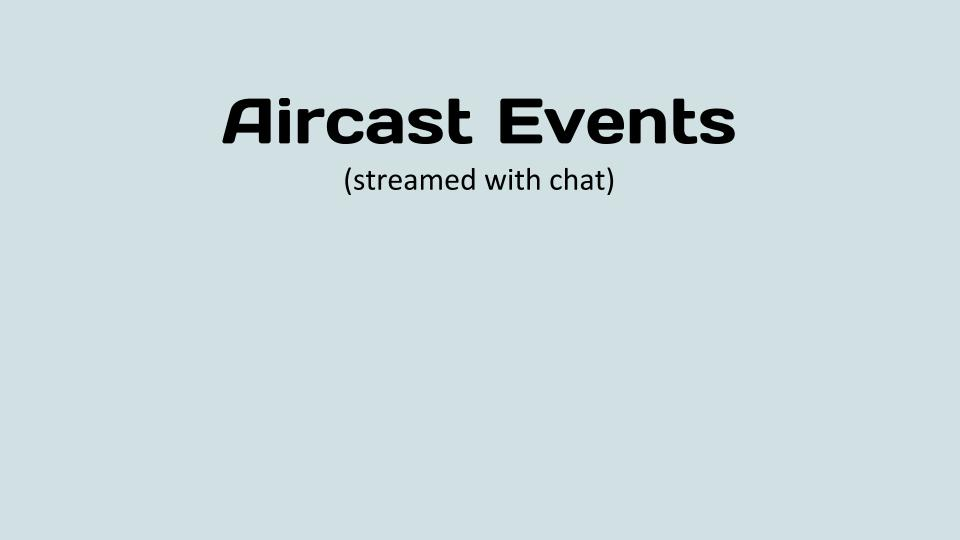 Aircast Events