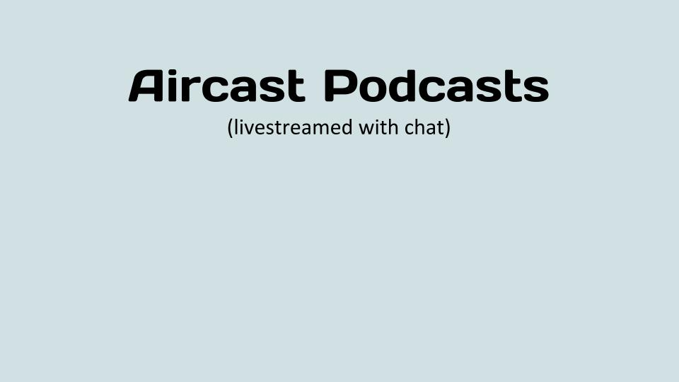 Aircast Podcasts
